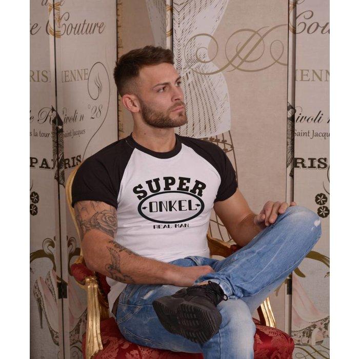 """T-Shirt """"Super Onkel """" Raglan-Shirt"""