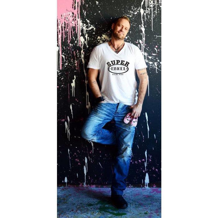 "T-Shirt ""Super Onkel ""V-Neck T- Shirt"