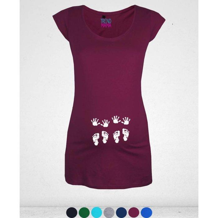 """""""Zwillinge - Babyhändchen und Füßchen"""" Umstandsmode Shirt Cathy"""