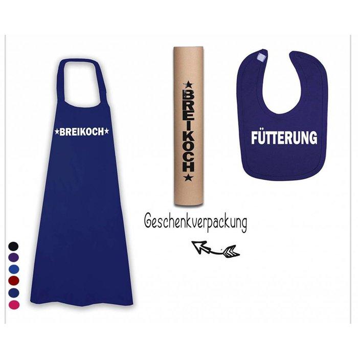 Breikoch Geschenkidee Koch/Latzschürze + Baby Lätzchen Fütterung / werdenden Eltern/Großeltern