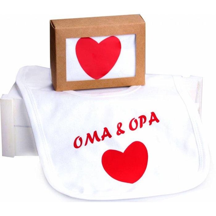"""Lätzchen im Geschenkkarton """"Oma & Opa """""""
