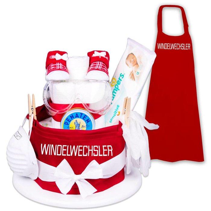 Windeltorte Windelwechsler  das Geschenk für die frischgebackenen Eltern/Großeltern und das Baby |
