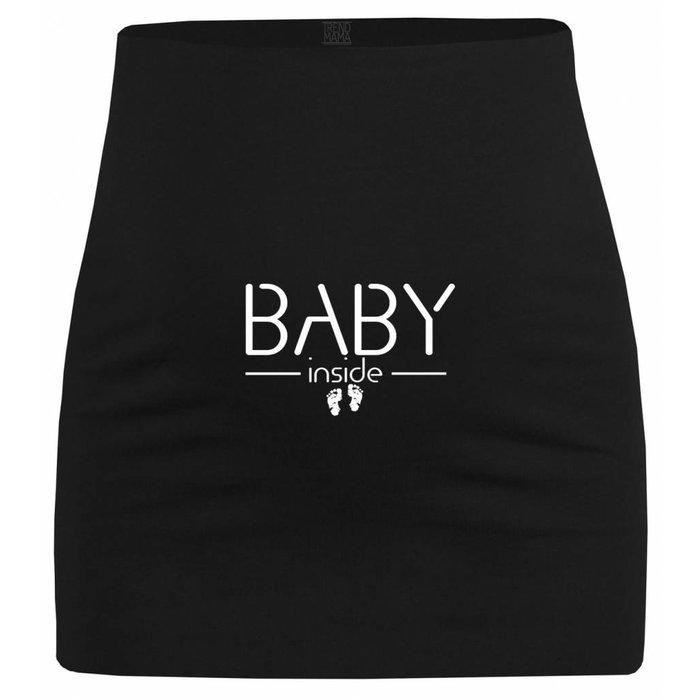 """Umstandsmode Bauchband """"Baby Inside """" mit Babyfüßchen"""