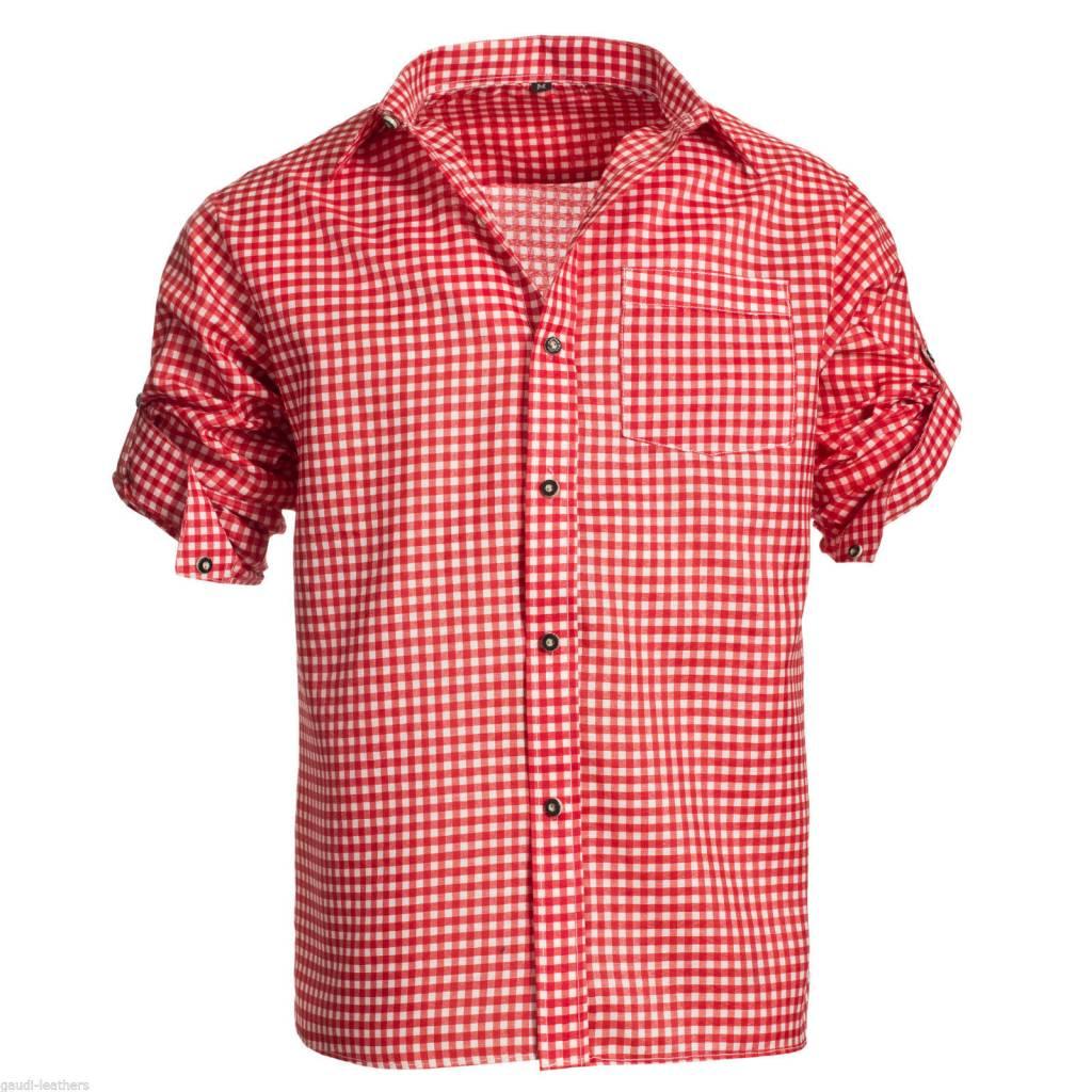 Trachtenhemd rood wit