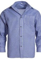 Trachtenhemd   blauw wit