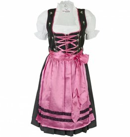 Dirndl Maria jurk 3delig Rose Zwart