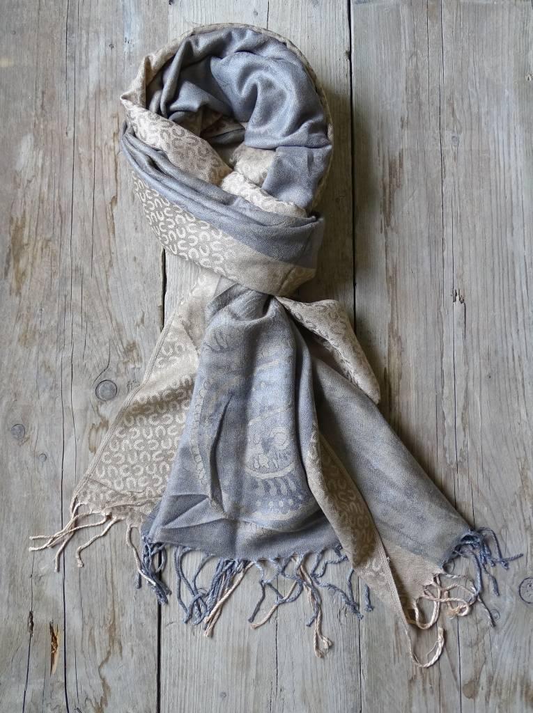 Clayre & Eef Sjaal Stip Casual & Elegant