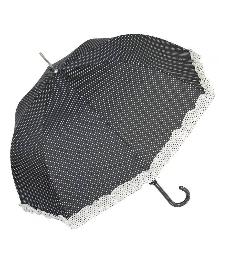 Clayre & Eef Paraplu Zwart-Stip 70x80