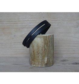 Unleaded Heren armband Zwart leer
