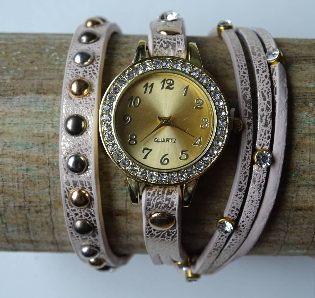Dames horloge Beige