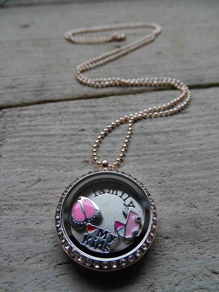 My Luck Charm Ketting Family Roze-Diamant