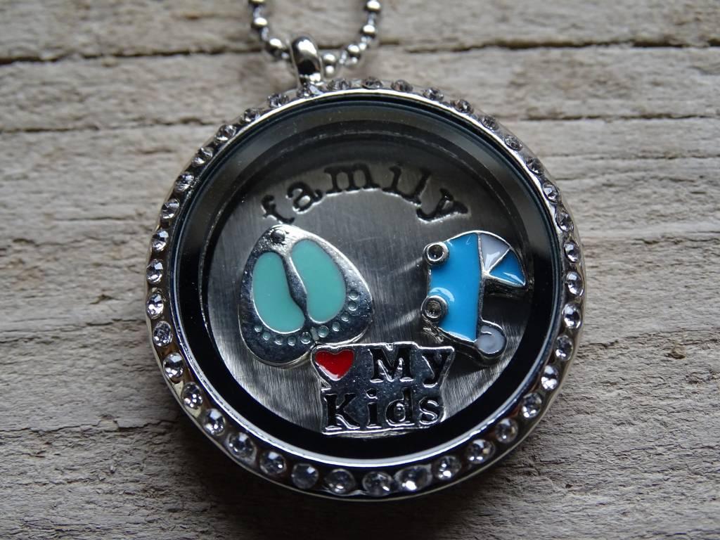 My Luck Charm Hanger Zilver-Diamant