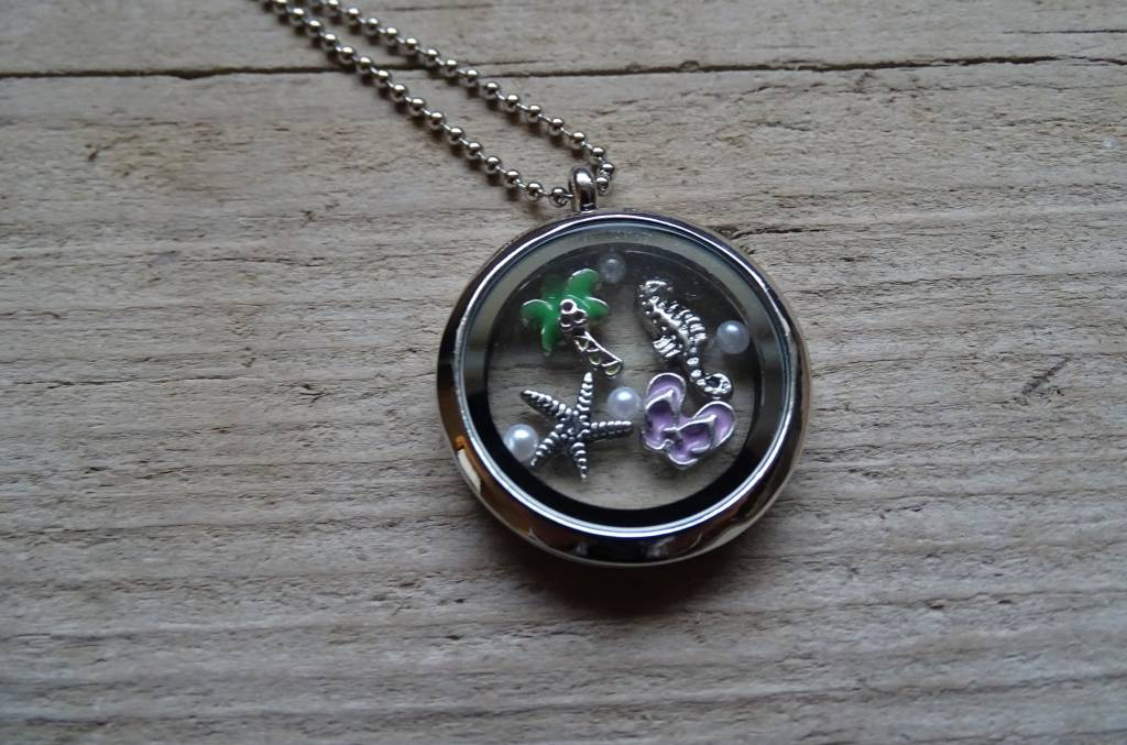 My Luck Charm Ketting 80 cm Zilver