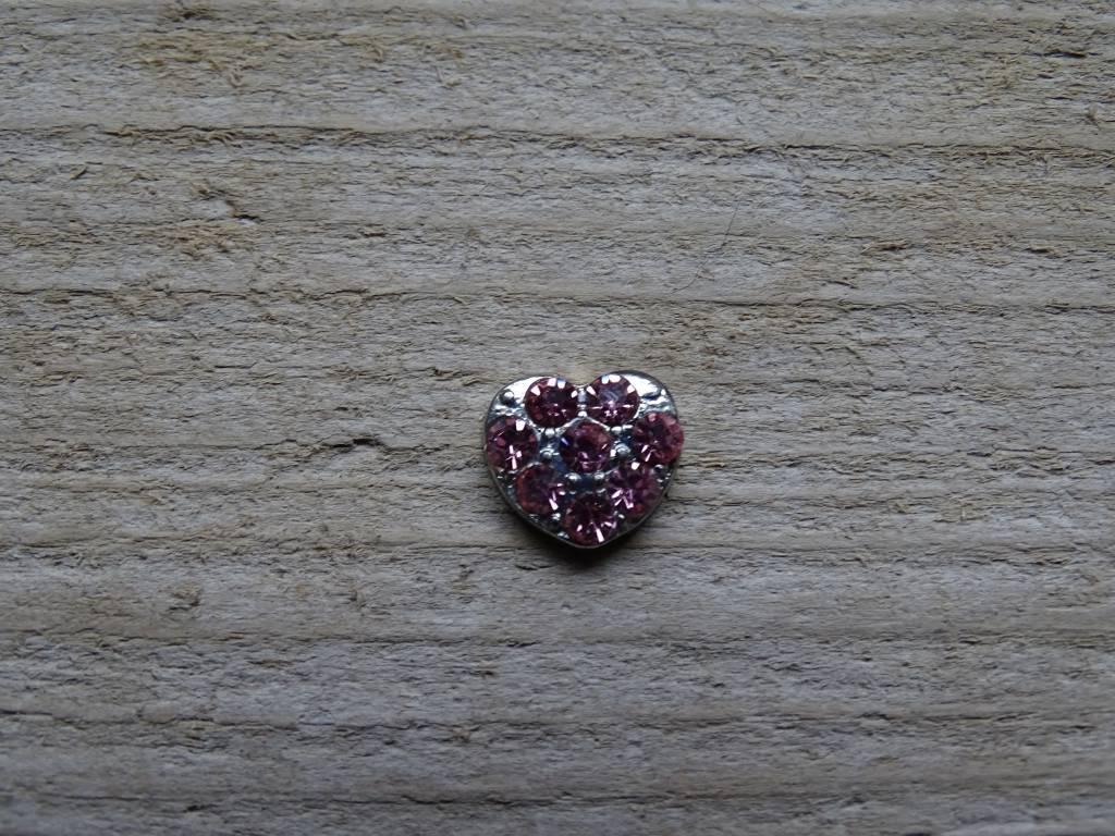My Lucky Charm Bedel Hart Roze Diamanten