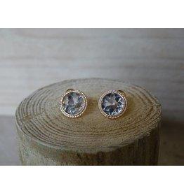 Behave oorbellen rond met Swarovski kristalsteen