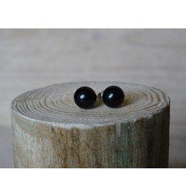 Parel oorbellen Zwart size medium