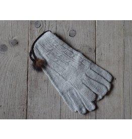 Clayre & Eef Handschoenen Grijs-Beige