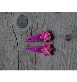 Meisjes Haarspeldjes Donker Roze