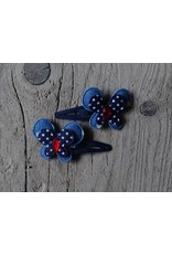 Meisjes Haarspeldjes Blauw-Blauw Stip