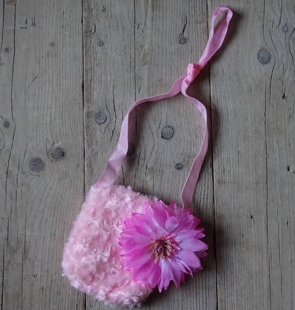 Meisjes Tas roze met Bloem