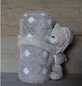 Clayre en Eef Plaid met knuffel Beer