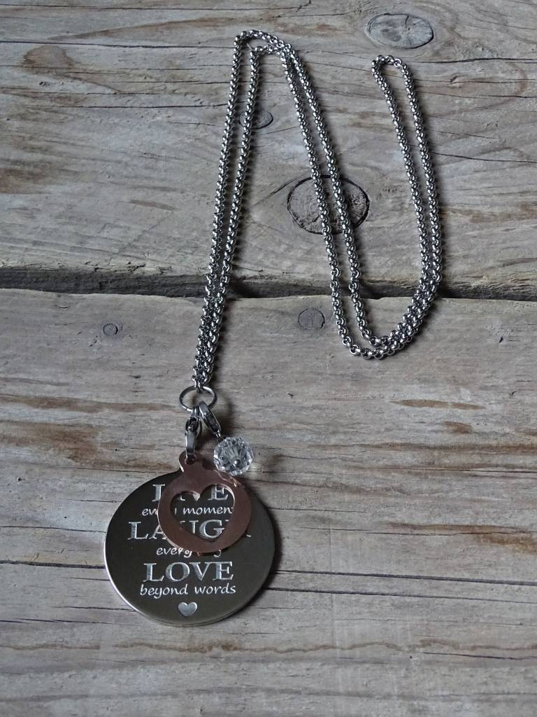 Pinkiezz Ketting Live Laugh Love