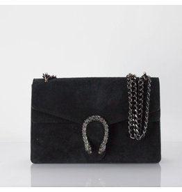 Cross Body Wannahave Zwart Suede