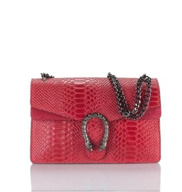 Cross Body Wannahave Rood Slangen Leer