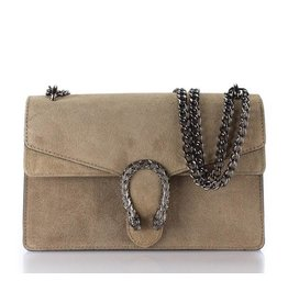 Cross Body Wannahave Beige Suede
