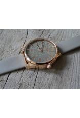 Intenz Horloge Glitter Grijs~Rozé