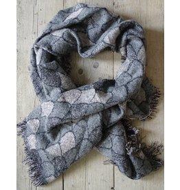 Sjaal / Omslagdoek roze-grijs-glitter