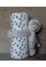 Clayre en Eef Plaid met knuffel Luipaard
