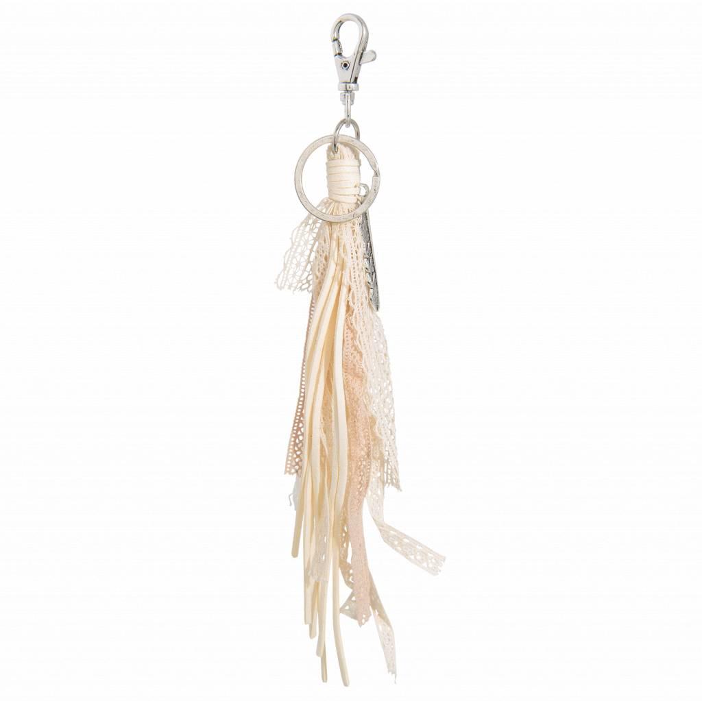 Juleeze Tassen - sleutelhanger Feather and tassel