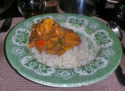 Reishi champignonssaus met rijst