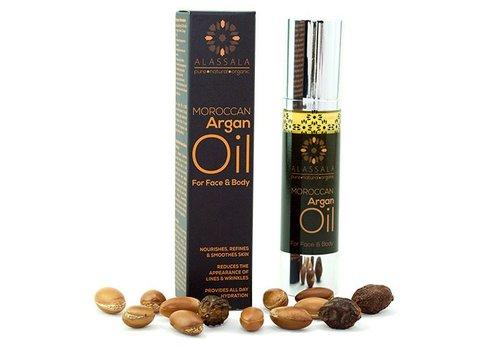Alassala Marokkaanse argan olie voor gezicht en lichaam - 50ml