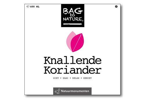 Bag -to-Nature zelf groente kweken - knallende koriander