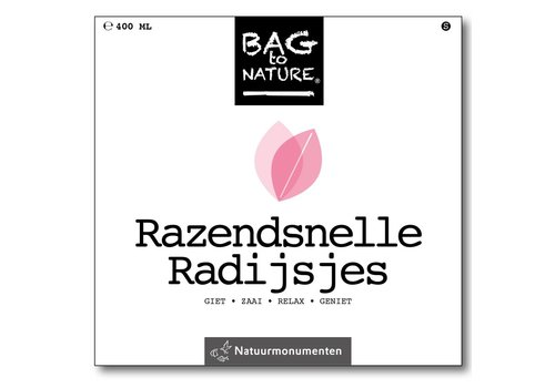 Bag -to-Nature zelf groente kweken - razendsnelle radijsjes