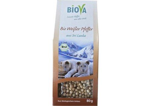 Biova bio- witte peper heel 80 gram