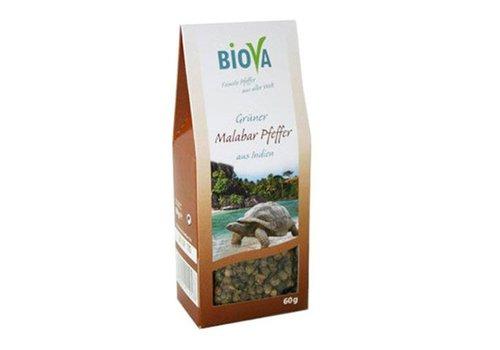 Biova groene malabar peper 60 gram