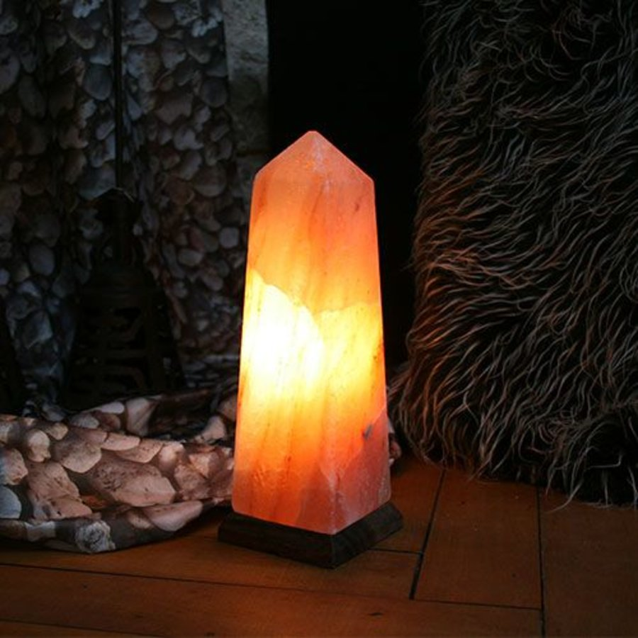 zoutlamp Himalayazout obelisk 3-4 kilo