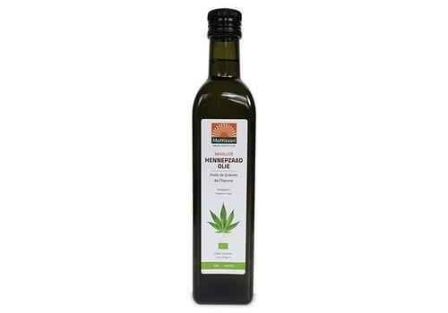 Mattisson bio hennepzaad olie organic raw 500 ml