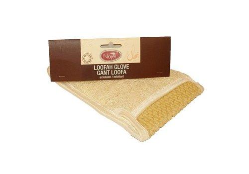 Najel loofah exfoliant washand - wit