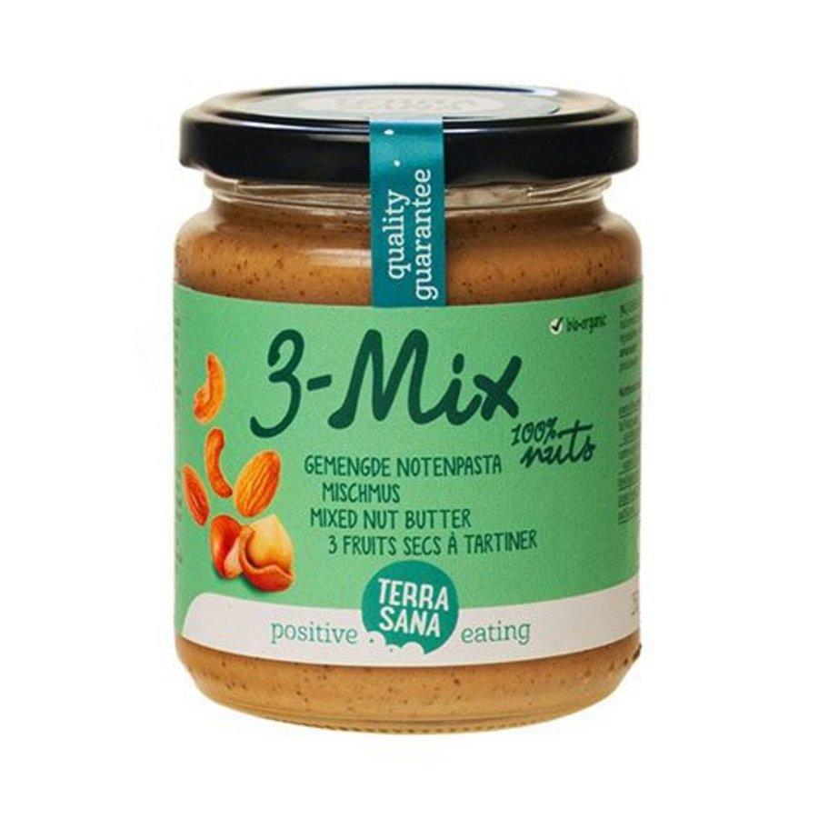3-mix, gemengde notenpasta zonder pinda 250g
