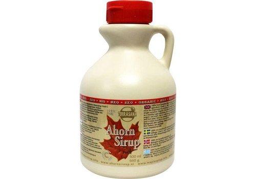 Terrasana bio ahorn siroop klasse c 500 ml in plastic jug