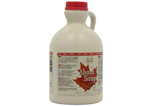 Terrasana bio ahornsiroop maple syrup 1000ml in plastic jug