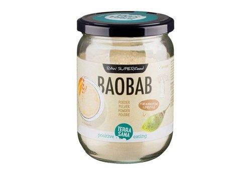 Terrasana bio baobab poeder in glas 190 gram