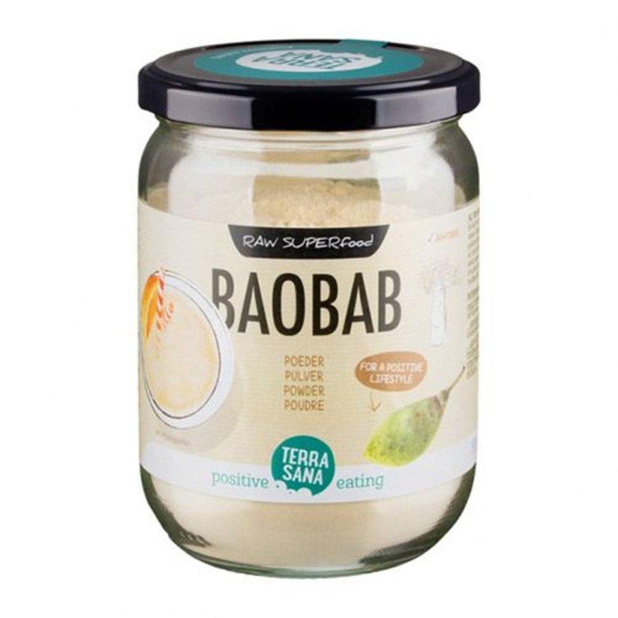 bio baobab poeder in glas 190 gram