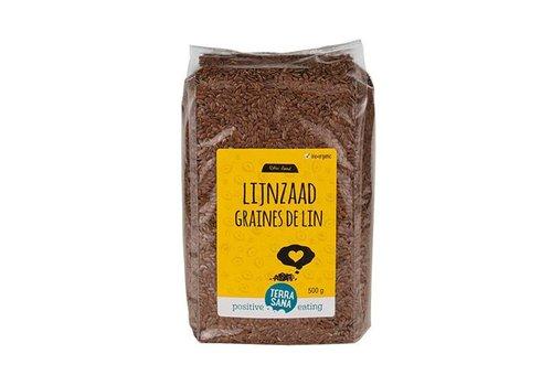 Terrasana rawfood bio lijnzaad heel 500 gram