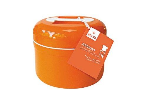 MyYo yoghurtmaker myyo ook als kefirmaker zonder stroom oranje