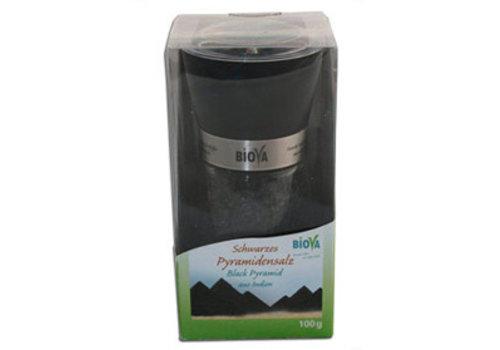 Biova zoutmolen met zwart piramidezout 100 gram